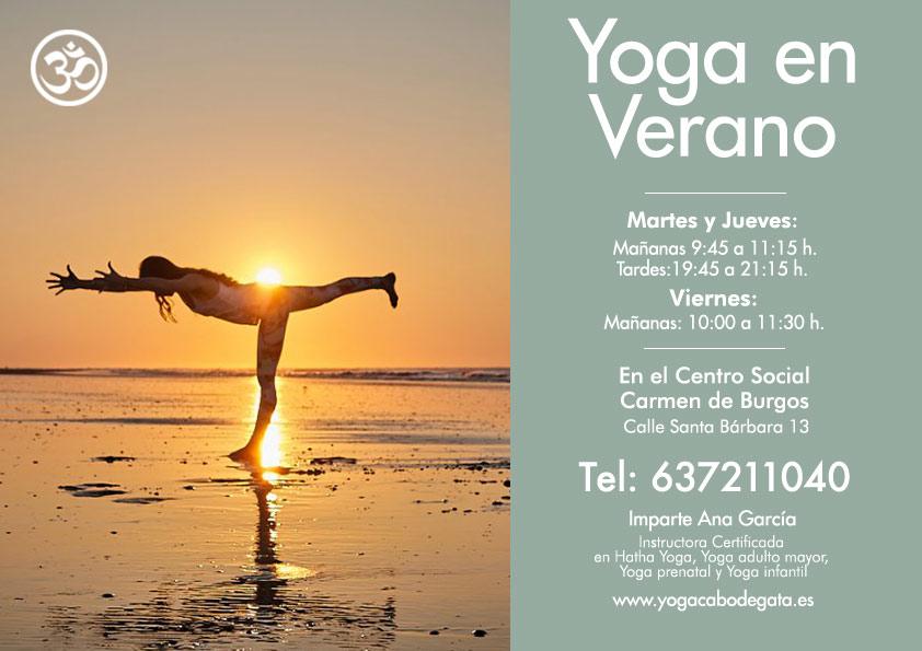 Yoga en verano. Rodalquilar Cabo de Gata